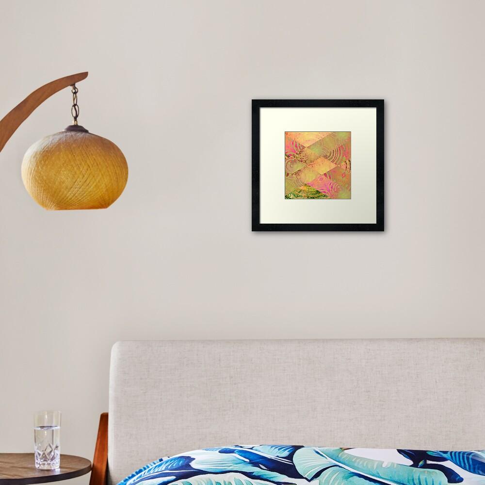 Pink Diagonal Series 01 Framed Art Print