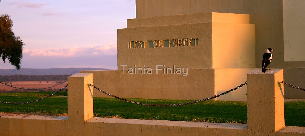 Lest We Forget by Tainia Finlay