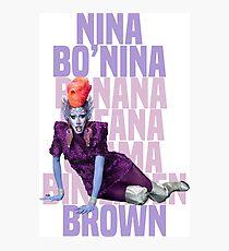 NINA BO'NINA (BANANA FOFANA OSAMA BIN LADEN) BROWN Photographic Print