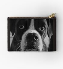 Arwen's Portrait in Black and White  -Boxer Dogs Series- Studio Pouch