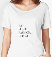 Camiseta ancha para mujer Coma repetición de la moda del sueño