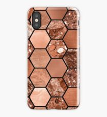 Rose gold hexaglam iPhone Case/Skin