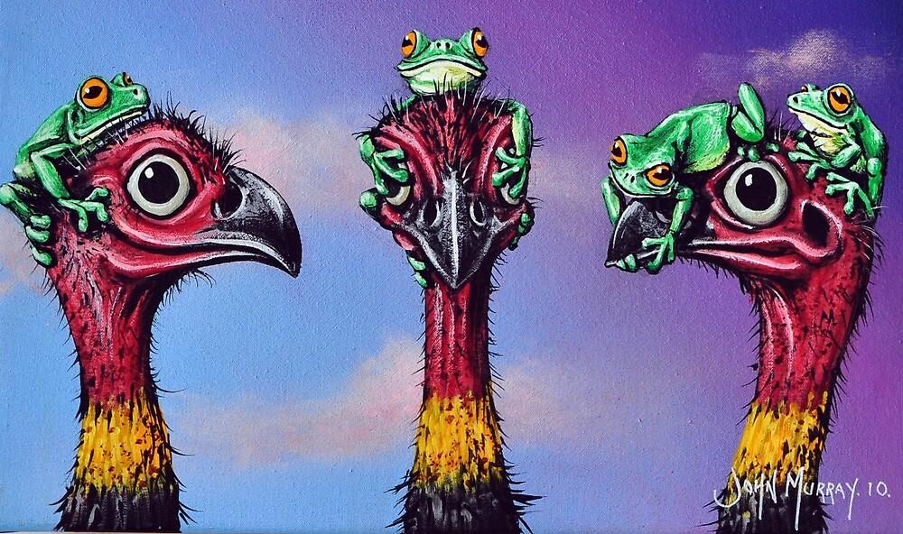 Hear No Evil, See No Evil, Speak No Evil (Bush Turkeys) by John  Murray