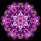 Mandala of Gentle Compassion - Meditation Focus - Sacred Geometry Energy Mandala by Leah McNeir