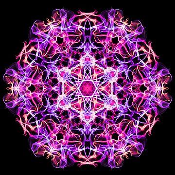 Mandala of Gentle Compassion - Meditation Focus - Sacred Geometry Energy Mandala by LeahMcNeir