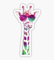 Bunte Giraffe Sticker