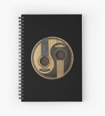 Cuaderno de espiral Guitarras acústicas viejas y desgastadas Yin Yang