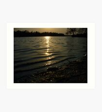 Silky Lake Art Print