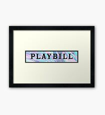 playbill pastel design  Framed Print