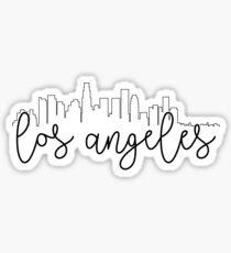 cityscape outline - los angeles Sticker
