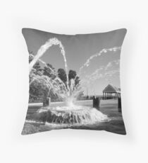 Waterfront Fountain #1, Charleston, SC Throw Pillow
