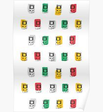 Gameboy Scribble Poster