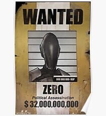 Borderlands Zero Wanted Poster Poster