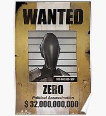 Borderlands Zero Wanted Poster Poster