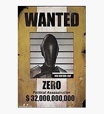 Borderlands Zero Wanted Poster Photographic Print