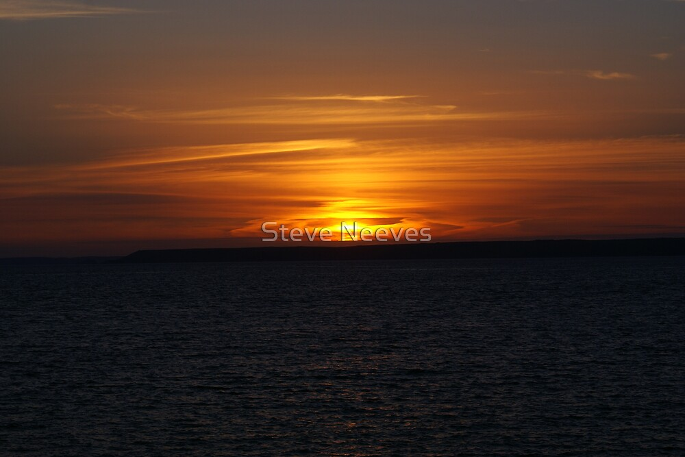 indian sunset in uk  by Steve Neeves