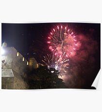 Fireworks above Jerusalem Poster
