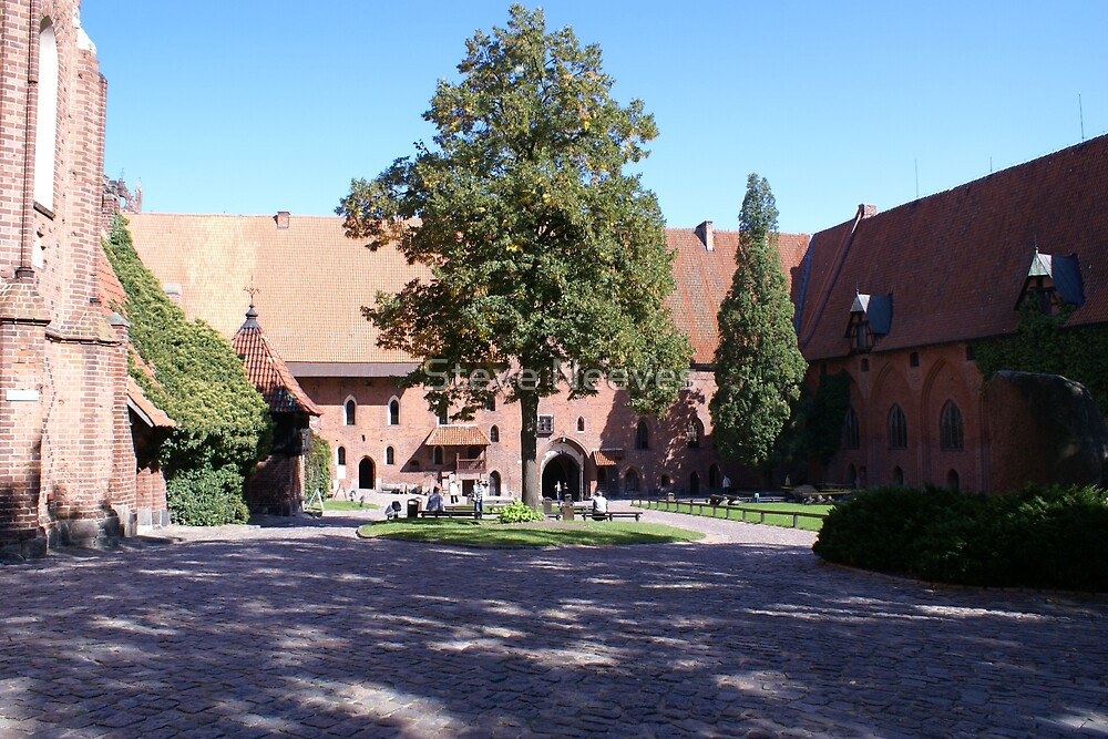 The coutyard Malbork castle  by Steve Neeves