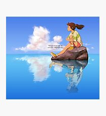 You Never Really Forget - Spirited Away - Studio Ghibli Photographic Print