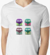 Pop Kombi  VW Plain T-shirt Mens V-Neck T-Shirt