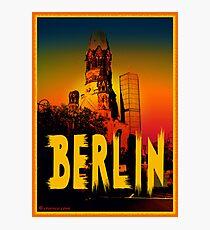 Gedächtniskirche in Berlin Germany Fotodruck
