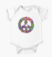 Flower Power Retro Hippie Peace Symbol Kids Clothes