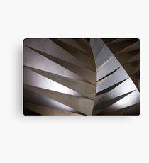 Abstract steel sculpture Canvas Print