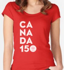 Canada 150 Official Licensed Women's Fitted Scoop T-Shirt
