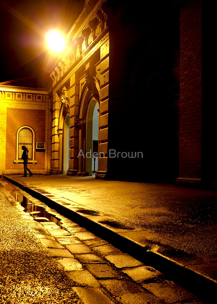 Train Station at Night by Aden Brown