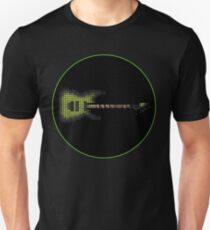 Tiled Pixel Green Burst Electric Guitar T-Shirt