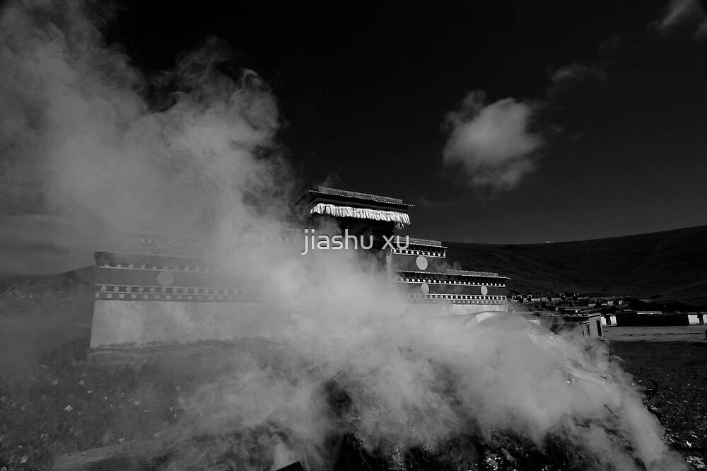 Tibetan tample and smok by jiashu xu