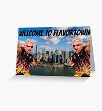 Welcome to Flavortown Guy Fieri New York City Meme Greeting Card