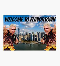 Welcome to Flavortown Guy Fieri New York City Meme Photographic Print