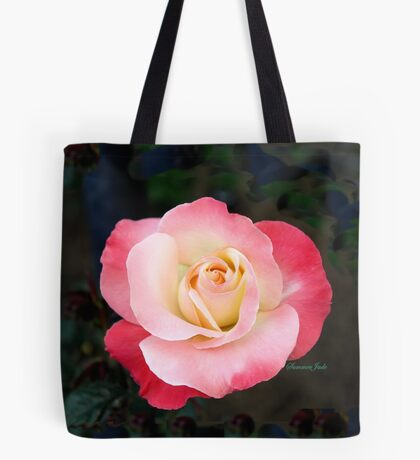 A Blushing Rose ~ Two Tone Beauty Tote Bag