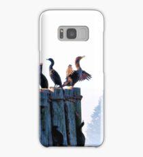 Cormorants on a foggy morning. Samsung Galaxy Case/Skin