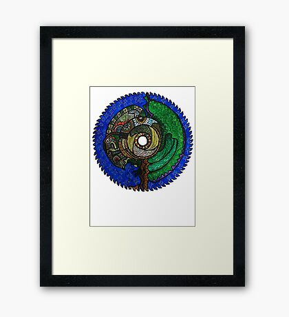 Tree Saw Blade (saw blade #3) Framed Print