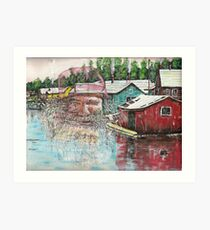 The old man from shantytown Art Print