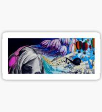 Escape (Acrylic Ink on Watercolor paper) Sticker