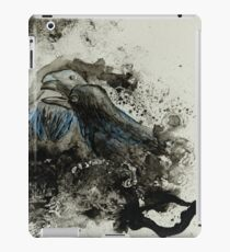 Ravens (Acrylic Ink on Watercolor Paper) iPad Case/Skin