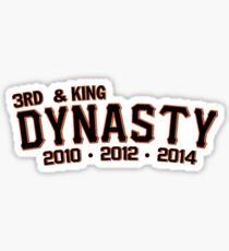 "San Francisco Giants ""3rd & King Dynasty"" Sticker"