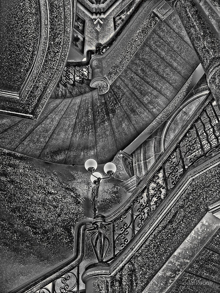 Twisted Stairs Sepia  by odarkeone