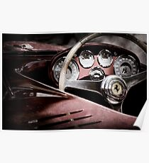 1954 Ferrari 500 Mondial Spyder Steering Wheel Emblem -2382ac Poster