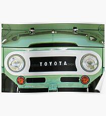 1969 Toyota FJ-40 Land Cruiser Grille Emblem -0444c Poster
