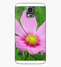 Pink Cosmos Flower Case/Skin for Samsung Galaxy