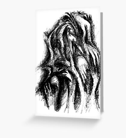 Touching Hands Greeting Card