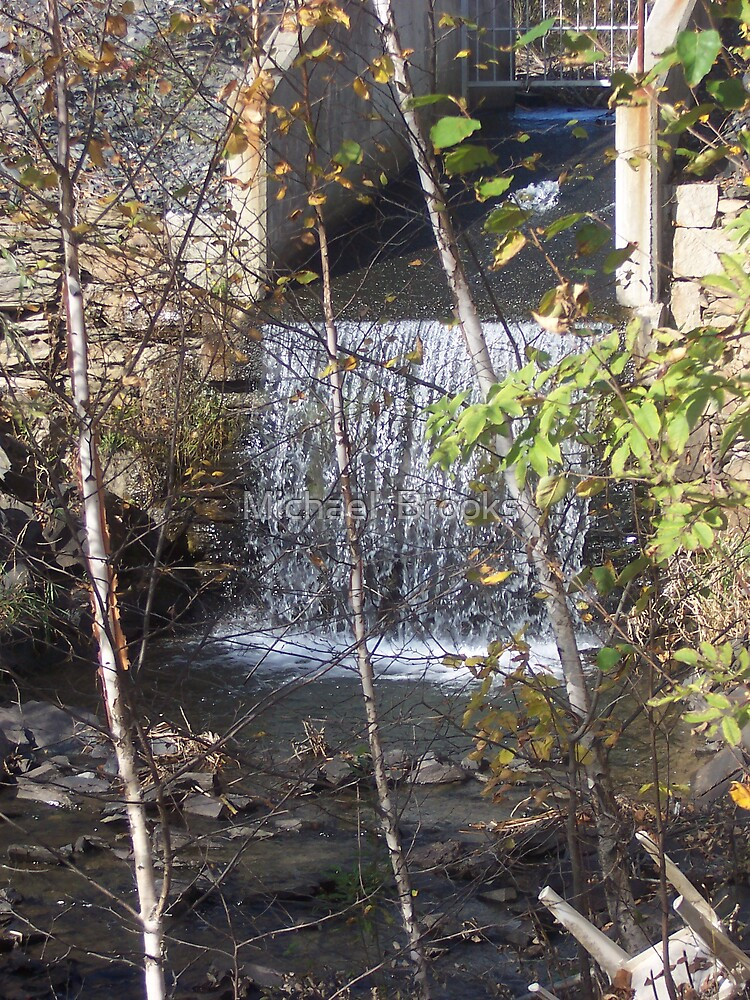 Dam Waterfall of Dexter by Michael  Brooks