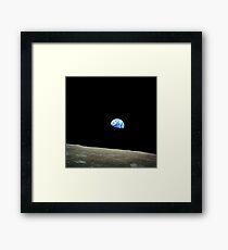 Apollo 8 Dec 24 Earthrise  by NASA Framed Print