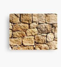 Stone wall texture Metal Print
