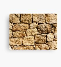 Stone wall texture Canvas Print