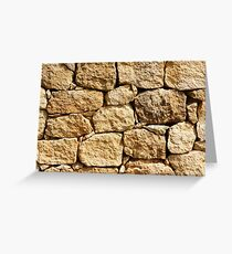 Stone wall texture Greeting Card